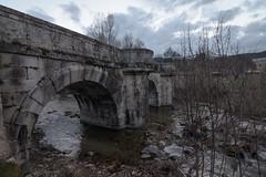 Puente del Perdn (gonzalez1990) Tags: madrid bridge espaa naturaleza rio del puente spain construccion piedra rascafria perdon horaazul puentedelperdon