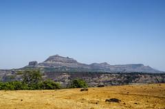 Forts (Deepak Parulekar) Tags: blue sky india colour nature landscape fort outdoor maharashtra sahyadri konkan westernghat