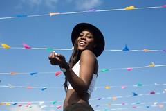 Adriana Boho (Rosanna Rion) Tags: blue party sky black sexy girl smile hat hair flickr fiesta gente verano sensations