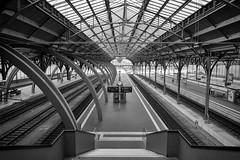 Lbeck Hauptbahnhof (Seedeich) Tags: bw architecture railway luebeck g5x