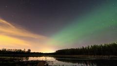 Aurora (fred.colbourne) Tags: sky lake water stars alberta aurora auroraborealis elkislandnationalpark