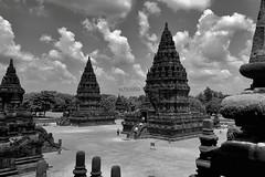Prambanan (Schristia) Tags: travel blackandwhite architecture indonesia temple stupa hinduism bnw prambanan centraljava candiprambanan