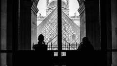 Silhouettes (lukeflynnfilms) Tags: paris eiffeltower streetphotography photojournalism thelouvre