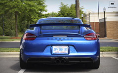 Cayman GT4 (RomanAuto97) Tags: blue cars car germany back automobile edited parking 911 wing lot porsche cayman rs meet spoiler gt4 gt3 gt3rs