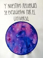 Y nusestros recuerdos se expandieron por el universo (anysykes - any) Tags: love illustration drawing amor any draw universe dibujo desing ilustracin melany acevedo anysykes