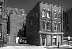 Old Paint (Adam Curran) Tags: new blackandwhite bw white black saint architecture john paint coke brunswick newbrunswick advert cocacola shamrock tobacco saintjohn nikor nbphoto nikond3300 d3300