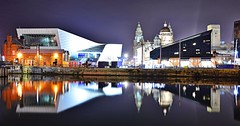 Mersey Mirror (Kev_Barrett) Tags: city longexposure urban art skyline architecture composition liverpool reflections nikon cityscape nightlights dusk perspective cityscapes nightshots mersey albertdock goldenhour cityscene merseyside nikond3200 d3200 originalfilter