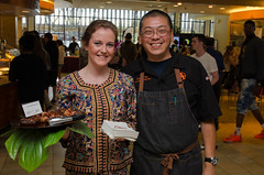 Chef Alex Ong 4/19-4/20/16 (UMassDining) Tags: test alex smiling bacon chef taste guest ong