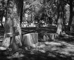 Urban Demise (☁☂It's Raining, It's Pouring☂☁) Tags: light cemetery intense shadows stones odc childseyes andrekertesz