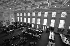 115/366 (local paparazzi (isthmusportrait.com)) Tags: old roof blackandwhite white black building blancoynegro blanco lines architecture contrast iso800 pod pattern chairs zoom library details negro grain wide shapes books structure f45 indoors fancy uwmadison historical neat msn madisonwi noise 16mm readingroom periodicals windowlight universityofwisconsinmadison 2016 isthmus widest danecountywisconsin wisconsinstatehistoricalsociety 366project canon5dmarkii localpaparazzi redskyrocketman lopaps tokina1628f28 isthmusportrait doorsopenmadison
