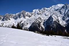 Hiver ou printemps Winter or spring Chamonix Mont Blanc Nr 3 (CHAM BT) Tags: winter mountain snow france alps alpes high hiking walk hiver rando trace glacier needle summit neige chamonix blanc montblanc massif aiguilles winterbeauty hautesavoie sommet