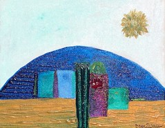 Emerging Wisdom (Dawn Richerson) Tags: city sun tower art modern painting landscape star ancient awakening masculine feminine divine soul dome future emergence intuitive wisdom spiritual past emerging barren marymagdalene soulart dawnricherson dawnrichersonartpaintingspiritualintuitivesoulsoulfulartistatlantageorgiausactivationinspiringinspirational