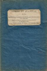 BARITONE RENE LITS: COLLECTION OF STAGE JEWELRY AN OPERATIC MEMORABILIA, GREGORIO, ROMEO ET JULIETTE, LIBRETTO (Operabilia) Tags: opera libretto gounod romoetjuliette georgesvillier claudepperna goldenagememorabilia claudepascalperna renlits londubressy