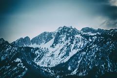 Snowy Mountain Skyline (Austin Hudson) Tags: mountain snow cold landscape outdoor mountainpeak