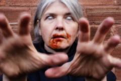 Pinhole zombie (Apionid) Tags: blur eyes ketchup zombie pinhole horror alternativephotography werehere day117366 nikond7000 hereios 366the2016edition 3662016 26apr16