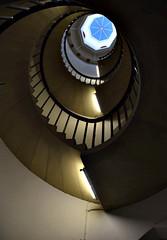 Higher education? (Peter Denton) Tags: cambridge england history architecture education university stairwell learning stjohnscollege fluorescentlighting striplighting tamronaf18270mmf3563 nikond5300 peterdenton