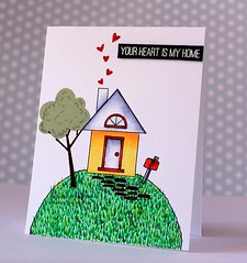 Your Heart Is My Home (Chitra Nair.) Tags: cards handmade coloring greetingcard copics cardmaking handmadecards papercrafting simonsaysstamp
