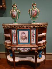 New York. The  Metropolitan Museum of Art. Beautiful bureau with Sevres French porcelain in Celeste Blue colouring. (denisbin) Tags: newyork art museum ew metropolitanmuseumofart yorksevresporcelainchinasalonmetropolitan