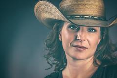 Cowgirl (Gannon B) Tags: lighting portrait people studio model nikon flash d750 cowgirl cowboyhat countrygirl texasgirl strobist