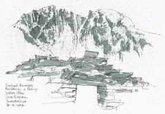 Quarry (jamesdyson) Tags: mountains building wales sketch ruin watercolour snowdonia quarry carneddau cwmeigiau craigyrysfa fibretip penywaunwen