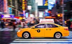 NY cab (teedee.) Tags: new york city ny yellow square lights time cab taxi sq