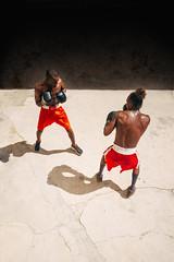 Location Scout (Havana, Cuba) (johnaustinwilson) Tags: shadow people urban sport austin de la fight ruins boxers decay havana cuba scout location gloves boxer wilson rafael boxing workout gym spar gimnasio lucha boxeo trejo
