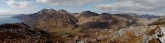 Looking towards Beinn Sgritheall, Beinn na-h Eaglaise, Beinn nan Caorach and Beinn Clachach from Druim Fada (Mumbles Head) Tags: mountains scotland highlands grahams glenelg munros corbetts lochhourn