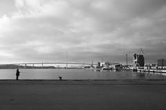 Morning at the harbor (elisachris) Tags: sky landscape harbor himmel hafen landschaft ricohgr stralsund mecklenburgvorpommern angler