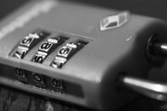 Combo Padlock (ereid88) Tags: blackandwhite macro nikon indoor padlock depth mavromonday