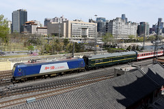 China Railway HXD3C 0004, Beijing Railway Station (Howard_Pulling) Tags: china camera photo airport nikon asia photos beijing picture railway zug trains april railways cr 2016 pek beijingrailwaystation chinarailways beijingcapital howardpulling d7200