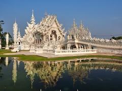 Chiang Rai - Wat Long Khun (sharko333) Tags: voyage travel building thailand temple asia asien olympus asie wat reise chiangrai thailande em1  watrongkhun watlongkhun