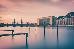 Good Night (philippdase) Tags: longexposure sunset sky berlin kreuzberg germany cityscape dusk oberbaumbrcke nikond7100 sigma1835mm18 philippdase