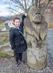 123 - Two Cheeky Monkeys (md93) Tags: forest scotland forestry centre cara visitor commission aberfoyle thelodge goape 366