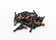 New P38 Overmolded Pistol (miniBIGS) Tags: toys lego wwii german minifig custom minifigure sidan brickarms minifigcat