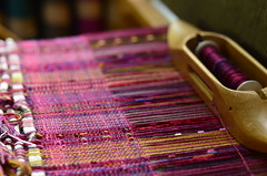collapse weave (kindred threads) Tags: website shawl weaving handwoven kindredthreads