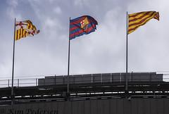Flags over Camp Nou (kimvbp) Tags: barcelona football spain europe european stadium flags catalonia spanish fc campnou catalan