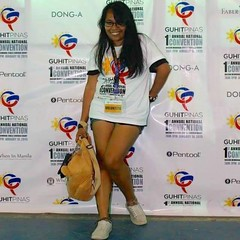 Guit Pinhas First National Convention (mikeeliza) Tags: portrait woman black hot sexy girl beautiful smile female pose hair asian big shiny long pretty legs philippines young exotic convention manila shorts pinay filipina brunette eliza indonesian malay pinhas negrita guit legportrait mikeeliza