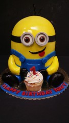 Minion Cake (dragosisters) Tags: cake carved minions despicable minion despicableme