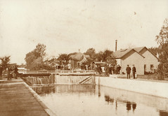 Canal, Portage Locks at Flood, Probably 10-11-1911