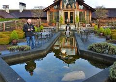 The Inn at Langley, with Michael Chuck (sea turtle) Tags: morning island washington inn patio dew whidbeyisland washingtonstate langley dewy whidbey innatlangley