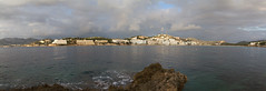 Santa Ponsa bay (smir_001) Tags: winter sunset sea panorama nature water beautiful beauty landscape evening bay spain mediterranean december european pano vista mallorca mediterraneansea majorca santaponca balearicislands canoneos7d