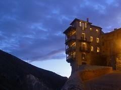 Living on the Edge (m_artijn) Tags: blue cloud house living casa spain edge hour hanging cuenca colgada