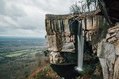lover's leap (almostsummersky) Tags: travel bridge trees winter cliff chattanooga water pool rock stone clouds forest georgia landscape star us waterfall unitedstates cloudy horizon stormy valley ledge overlook cascade lookoutmountain rockcity loversleap chattanoogavalley