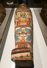 Mummy case for Shebmut (surreyblonde) Tags: london history archaeology canon egypt sarcophagus mummy coffin neogothic artifacts thebes ancientegypt g15 dynasty22 2templeplace lordastor templesinger bulldogtrust beyondbeautytransformingthebodyinancientegypt shebmut