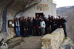 Il gruppo in escursione all'Eremo di San Bartolomeo in Legio - Majella - Abruzzo - Italy