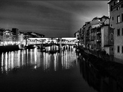 Ponte vecchio by night (vetlife2005) Tags: urban italy night reflections river florence italia nightshot firenze arno pontevecchio urbanscape waterscape riverarno refelections