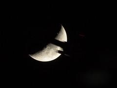 Moon Shadow (Sculptor Lil) Tags: sky moon london astrophotography flyby waxingcrescent canon700d dslrsingleexposure