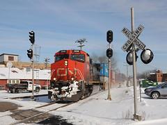 CN2696WaukeshaWI2-2-13 (railohio) Tags: snow wisconsin cn trains signals waukesha d90 c449w 020213