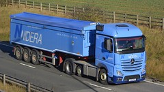 AY65 PZA (panmanstan) Tags: truck wagon mercedes yorkshire transport lorry commercial vehicle freight mp4 bulk haulage hgv southcave actros a63