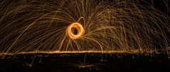 4/52 Outdoor (Outtake) (Suggsy69) Tags: longexposure light circle nikon outdoor sparks 52weekproject d5100 wirewoolspinning 522016week4outtakes